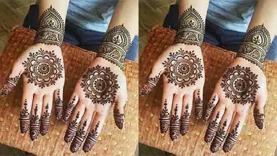 Simple Mehndi Designs Front Hand