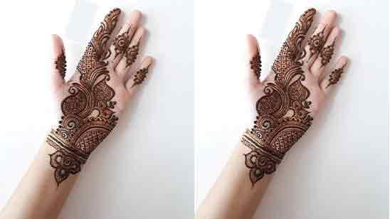 Simple Mehndi Designs Front