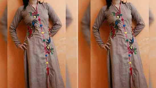 Simple Salwar Suit Neck Design