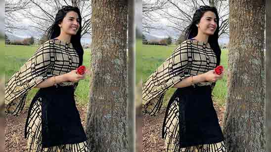 Simple Suit Salwar Girl Image