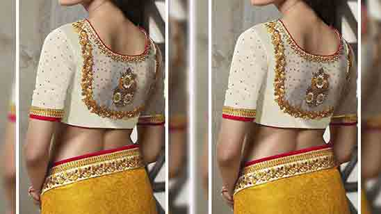 Thread Work Designs For Blouse