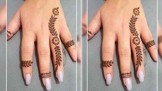 Very Simple Finger Mehndi Design
