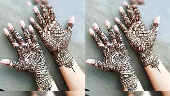 Very Simple Front Hand Mehndi Design