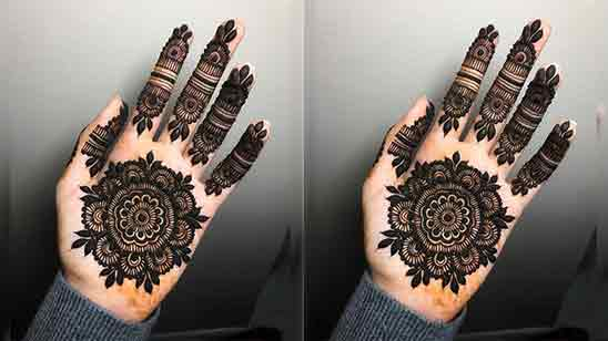 Very Simple Mehndi Designs For Front Hands