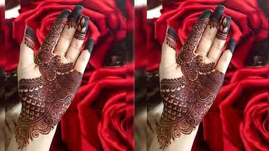 Arabic Bridal Mehndi Designs for Full Hands