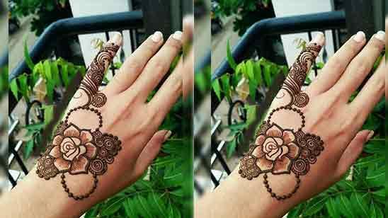 Arabic Finger Mehndi Design