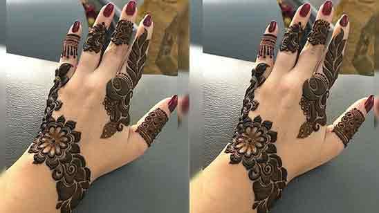 Arabic Flower Mehndi Design