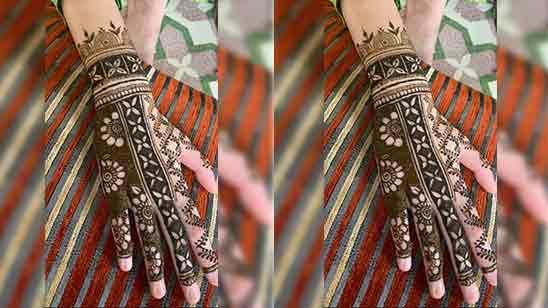 Back Full Hand Bridal Mehndi Design