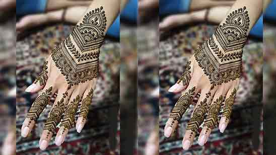 Back Hand Bridal Mehndi Designs