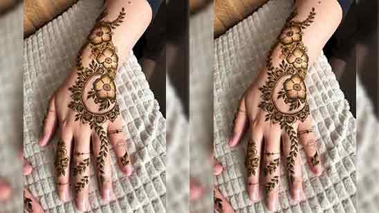 Back Hand Mehndi Design Easy And Beautiful