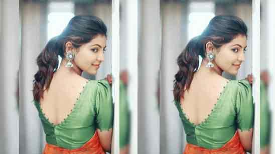 Back Neck Blouse Designs For Silk Saree