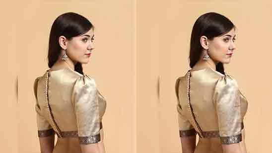 Back Side Banarasi Saree Blouse Back Design