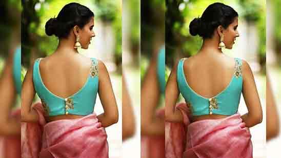 Back Side Blouse Designs Images