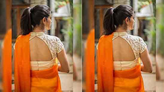 Back Side Collar Blouse Designs Back
