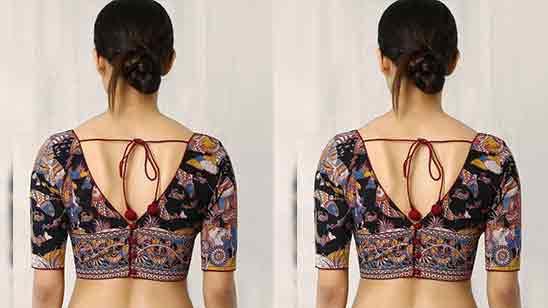 Back Side Cotton Blouse Designs