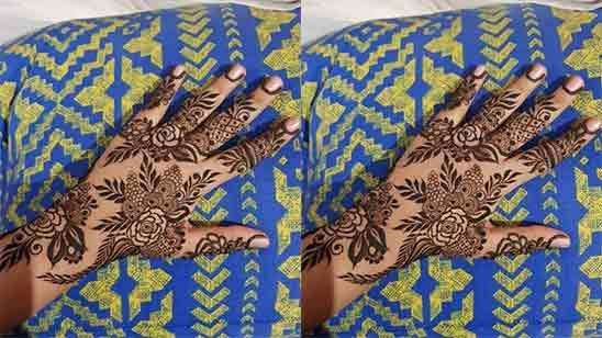 Back Side Flower Mehndi Design