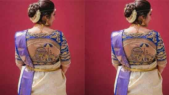 Back Side Paithani Blouse Designs