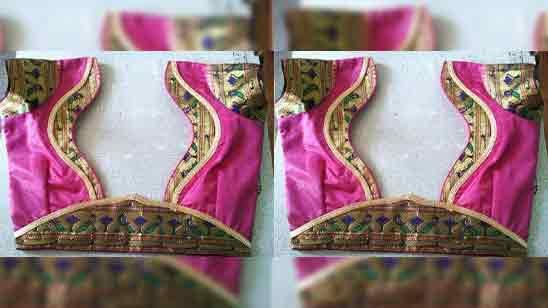 Back Side Silk Saree Trendy Blouse Designs