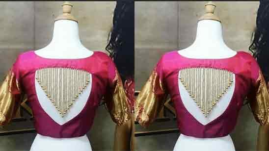 Back Side Simple Back Side Blouse Design
