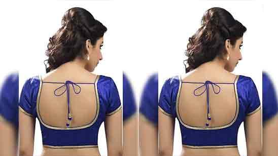Back Side Simple Blouse Design