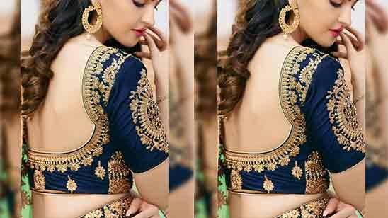 Back Side Simple Blouse Designs