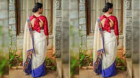 Back Side Wedding Saree Blouse Designs