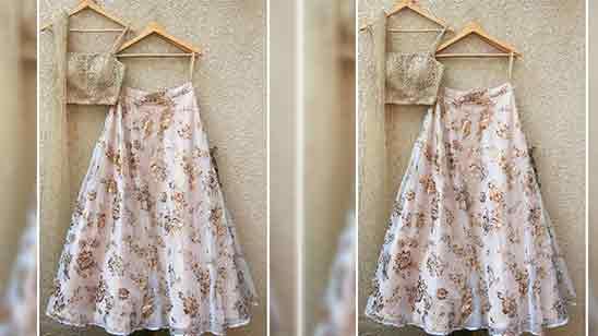 Back Simple Lehenga Blouse Designs