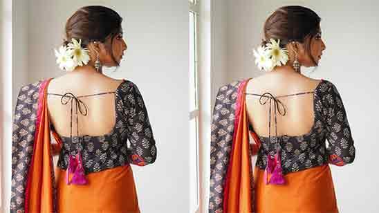 Backside Design Of Blouse