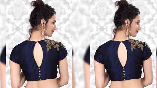 Banarasi Saree Blouse Back Designs 2018