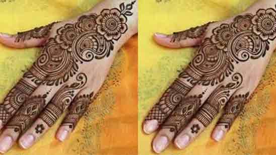 Beautiful Flower Mehndi Designs