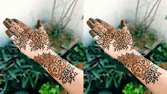 Beautiful Flower Mehndi