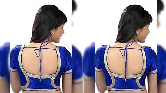 Big Border Saree Blouse Back Designs