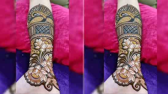 Big Flower Mehndi Design
