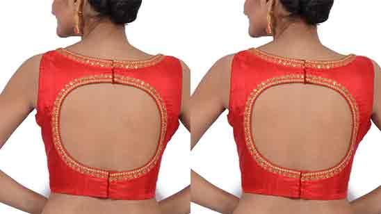 Blouse Back Designs For Pattu Sarees