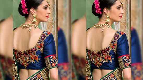 Blouse Designs Back Side For Silk Saree
