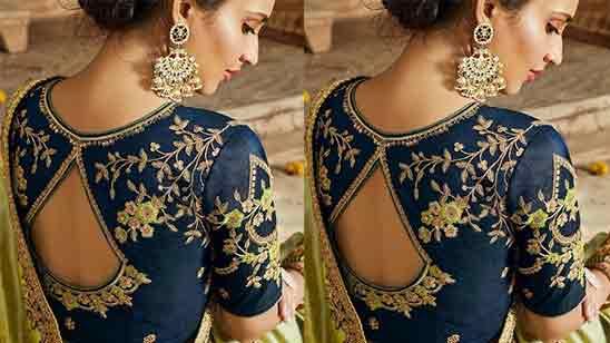 Blouse Designs In Pattu Saree