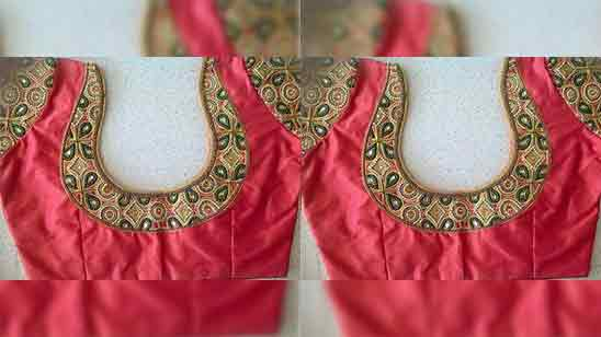 Blouse Designs With Patch Work