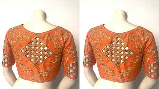 Blouse Embroidery Neck Designs