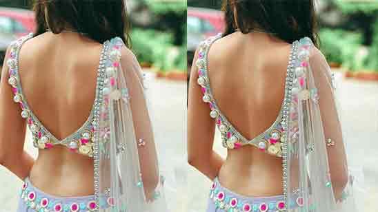 Blouse Neck Designs For Lehenga