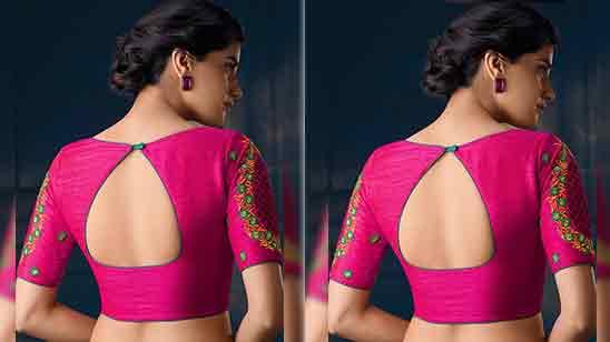 Blouse Neck Designs For Silk Saree