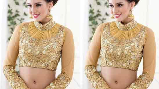 Blouse Neck Designs With Collar