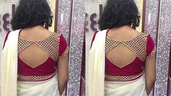 Blouse Neck Designs With Patch Work