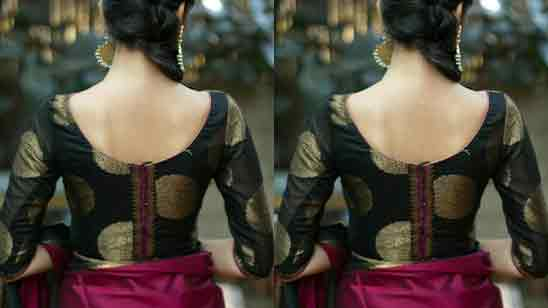 Boat Neck Blouse Designs Front And Back Images