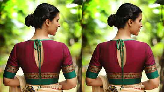 Boat Neck Blouse Designs With Net
