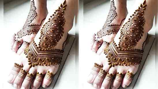 Bridal Mehndi Designs For Legs