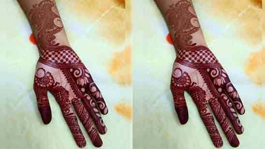 Bridal Mehndi Designs for Full Hands Back Side