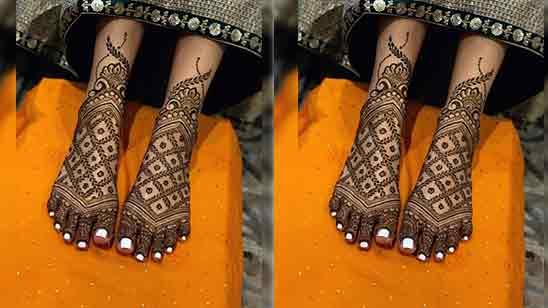 Bridal Mehndi Designs for Full Hands Back