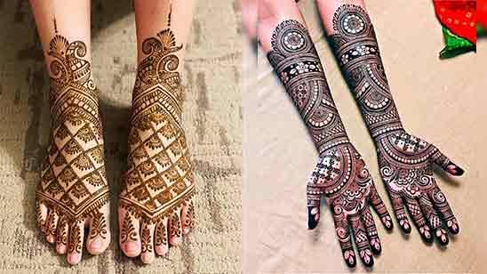 Bridal Mehndi Designs for Full Hands and Legs