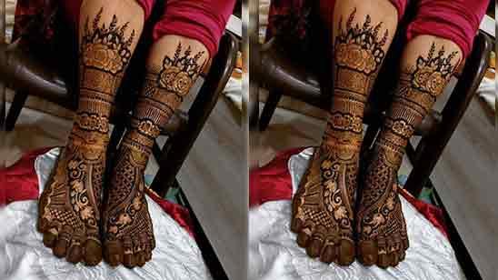 Bridal Mehndi Legs