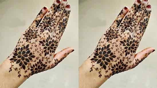 Bridal Simple Mehndi Design